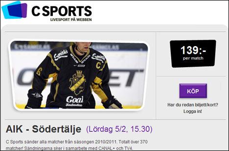 Se AIK-Södertälje hos Csports.