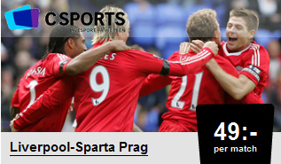 Se Liverpool-Sparta Prag hos Csports
