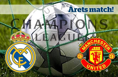 Post image for Real Madrid-Manchester United: Odds på supermatchen!